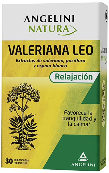 Angelini Natura 1704528 Valeriana LEO 30 Comprimidos Recubiertos - 4 Paquetes de 30 - Total: