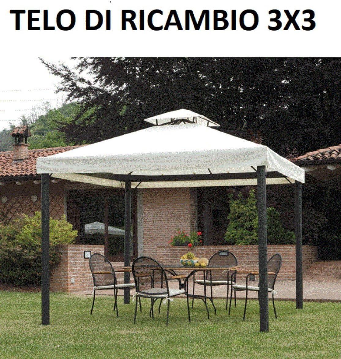 TELO BEIGE ECRU/' DI RICAMBIO CON AIR VENT PER GAZEBO MT.3X3 GAZEBI GIARDINO