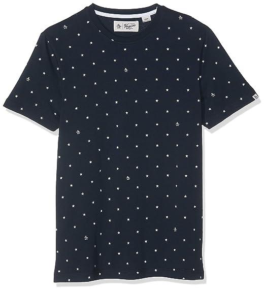 Original Penguin Stars N Pete Camiseta, Azul (Dark Sapphire), XXL ...