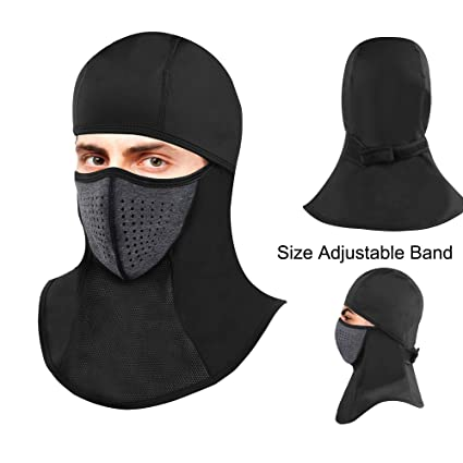 b838b7ed88f Omenex Balaclava Ski Masks for Man Women Face Mask Waterproof Windproof  with Size Adjustable Band Highly