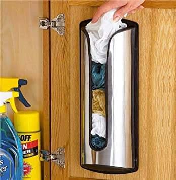 Generic S inoxidable dispensador de bolsas de bolsas de reciclaje CLE STAI Store eCycle plástico bolsa