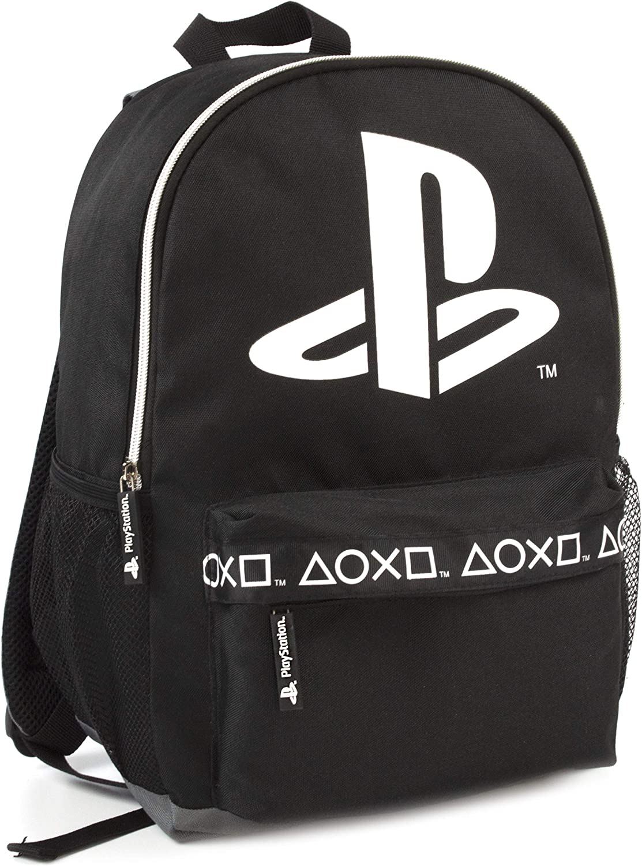 Sony Playstation Logo Mochila con Estilo Negro Gamer 16