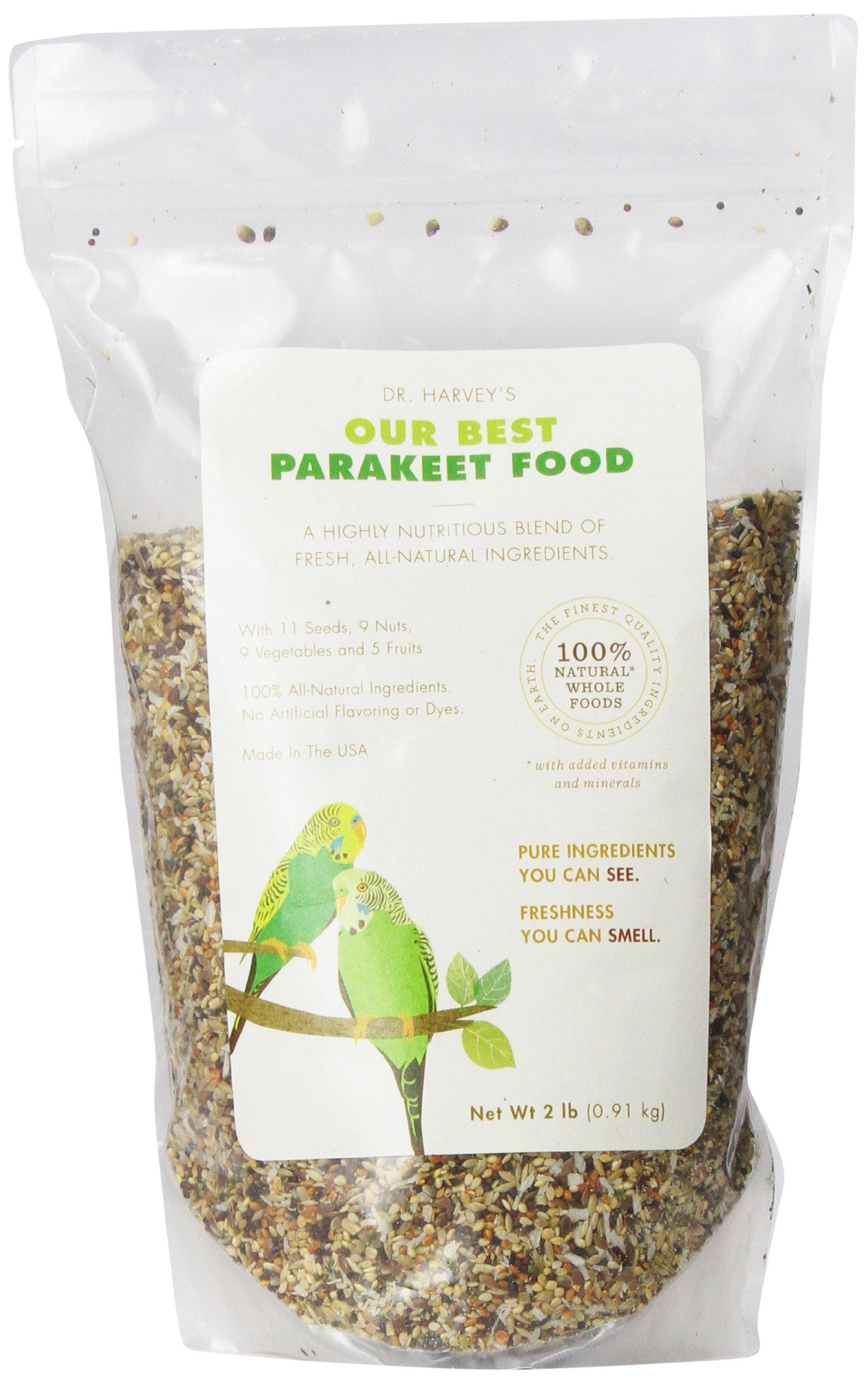 Dr. Harvey's Our Best Blend Natural Food for Parakeets, 2-Pound Bag
