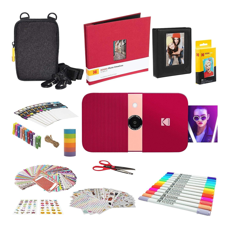 KODAK Smile Impresora Digital instantánea (Rojo) Kit Completo de ...