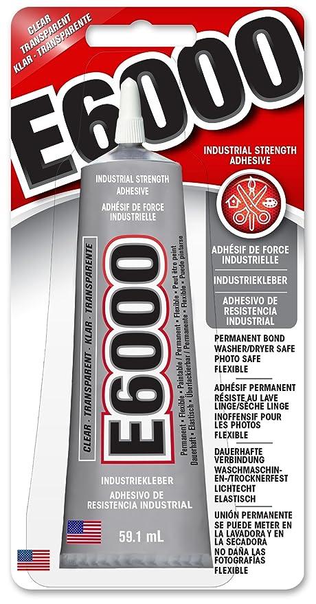 Eclectic E6000 – Pegamento industrial (59,1 ml Tube, pegamento, todo impermeable