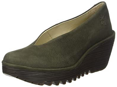 FLY London Damen Yasi682fly Pumps, Grün (Seaweed), 41 EU