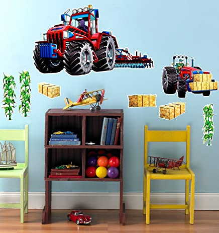 Amazon.com: Farm Tractor Room Decor - Giant Wall Decal: Toys & Games