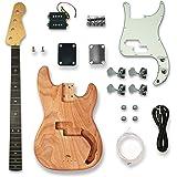 DIY Electric Guitar Kits For PB Style bass Guitar,Okoume Body