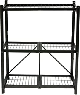 Charmant Origami R3 01 General Purpose 3 Shelf Steel Collapsable Storage Rack, Small