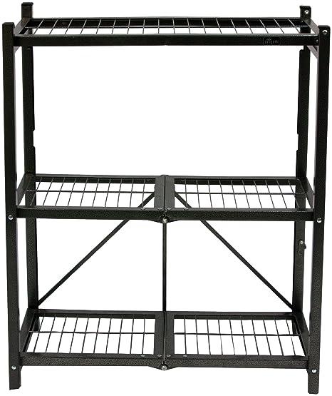 Origami R3 01 General Purpose 3 Shelf Steel Collapsable Storage Rack