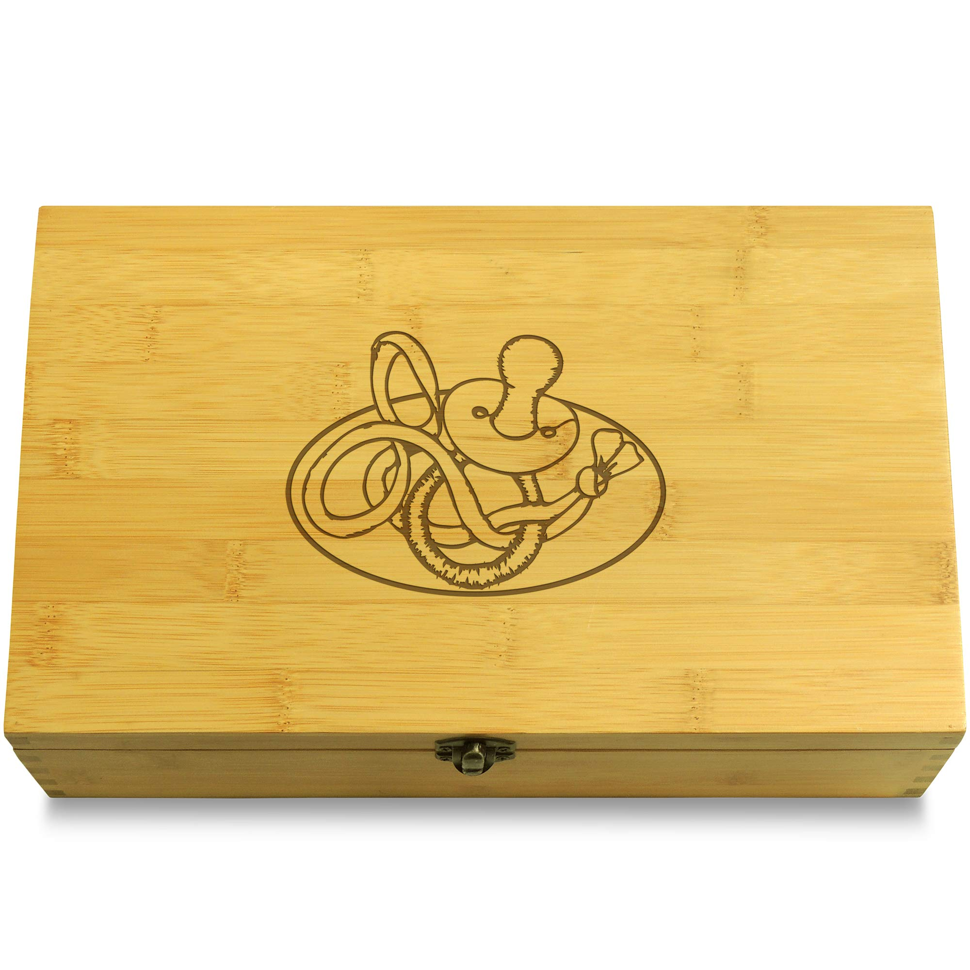 Cookbook People Etched Pacifier Baby Multikeep Box - Shower Bamboo Wood Adjustable Organizer by Cookbook People (Image #1)