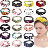 RINVEE Knotted Headbands for Women Boho Wide Headbands Elastic Hair Band Accessoriess 20 PACK