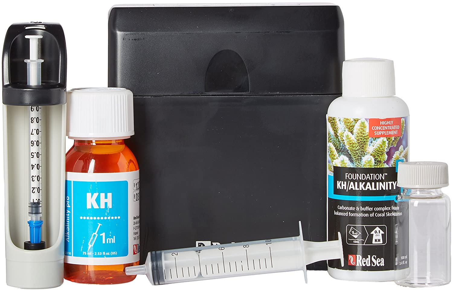Red Sea Fish Pharm ARE21410 Saltwater KH Alkalinity Pro Test Kit for Aquarium 75 Tests