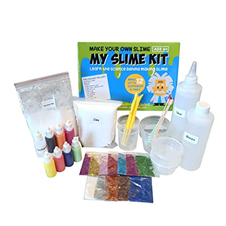 amazon com make your own slime kit w containers lids clay