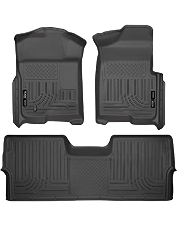 6adcab804d2 Husky Liners 98331 Black Weatherbeater Front   2nd Seat Floor Liners Fits  2009-2014 Ford