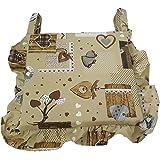 Set 6 cuscini shabby cuore MARRONE con volant 40x40 spessore 5 cm, copri sedia cucina,salotto Euronovità MADE IN ITALY