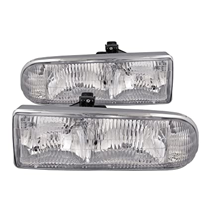 amazon com: headlightsdepot compatible with chevy/gmc s-10 pickup/s10  blazer headlights headlamps driver/passenger pair new: automotive