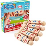 Wooden Reading Blocks | [5] Sets of Fun, Educational Spinning Alphabet Manipulative Blocks for Children w/ Easy-Grip…