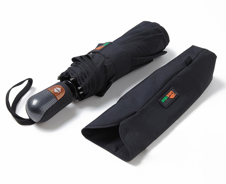 Umenice Paraguas Automático de Viaje Color Negro con varillas y tela con
