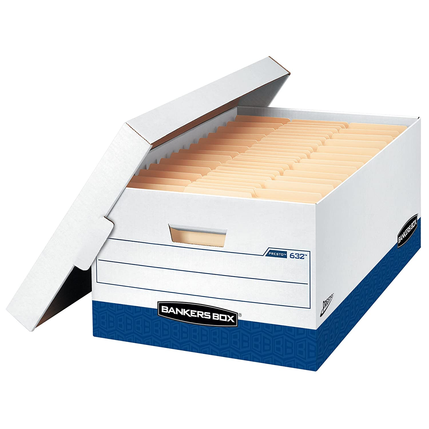Bankers Box Presto Heavy-Duty Storage Boxes 12 Pack 0063201 Legal