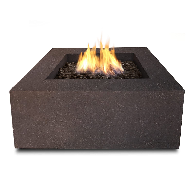 Real Flame T9620NG-KB Modern Baltic 36' Square Ng Firetable Kodiak Brown