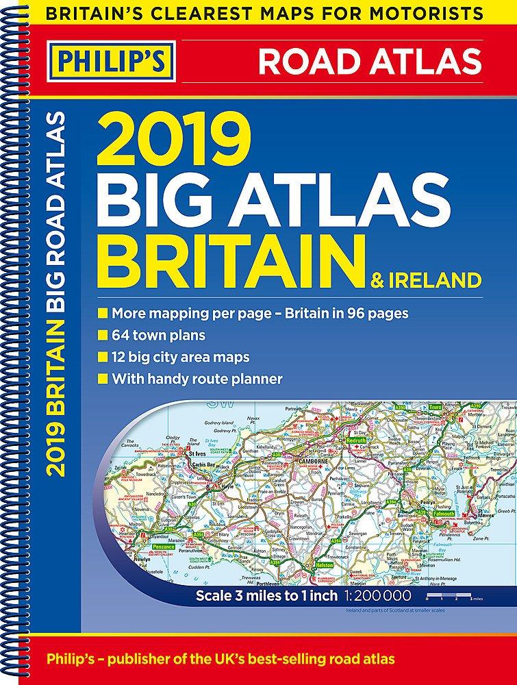 Britain And Ireland Map.Philip S 2019 Big Road Atlas Britain And Ireland Spiral Spiral