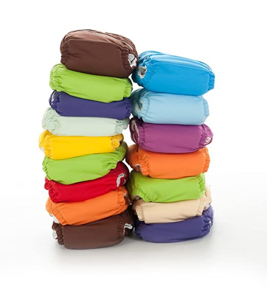 Fuzzi Bunz One Size Cloth Diapers 6 Pack Gender Neutral Colors