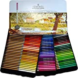 SCHPIRERR FARBEN 72 Color Pencil Set Professional Named and Numbered, Oil Based Soft Core, Ideal For Adult Crafts…