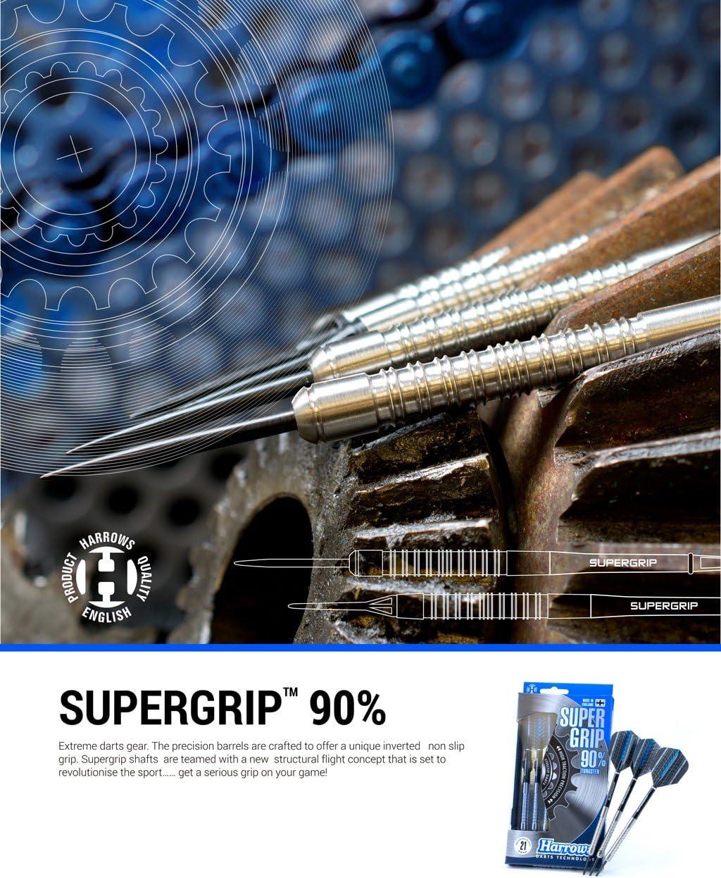 26g Harrows Supergrip 90/% Tungsten Steel Tip Darts