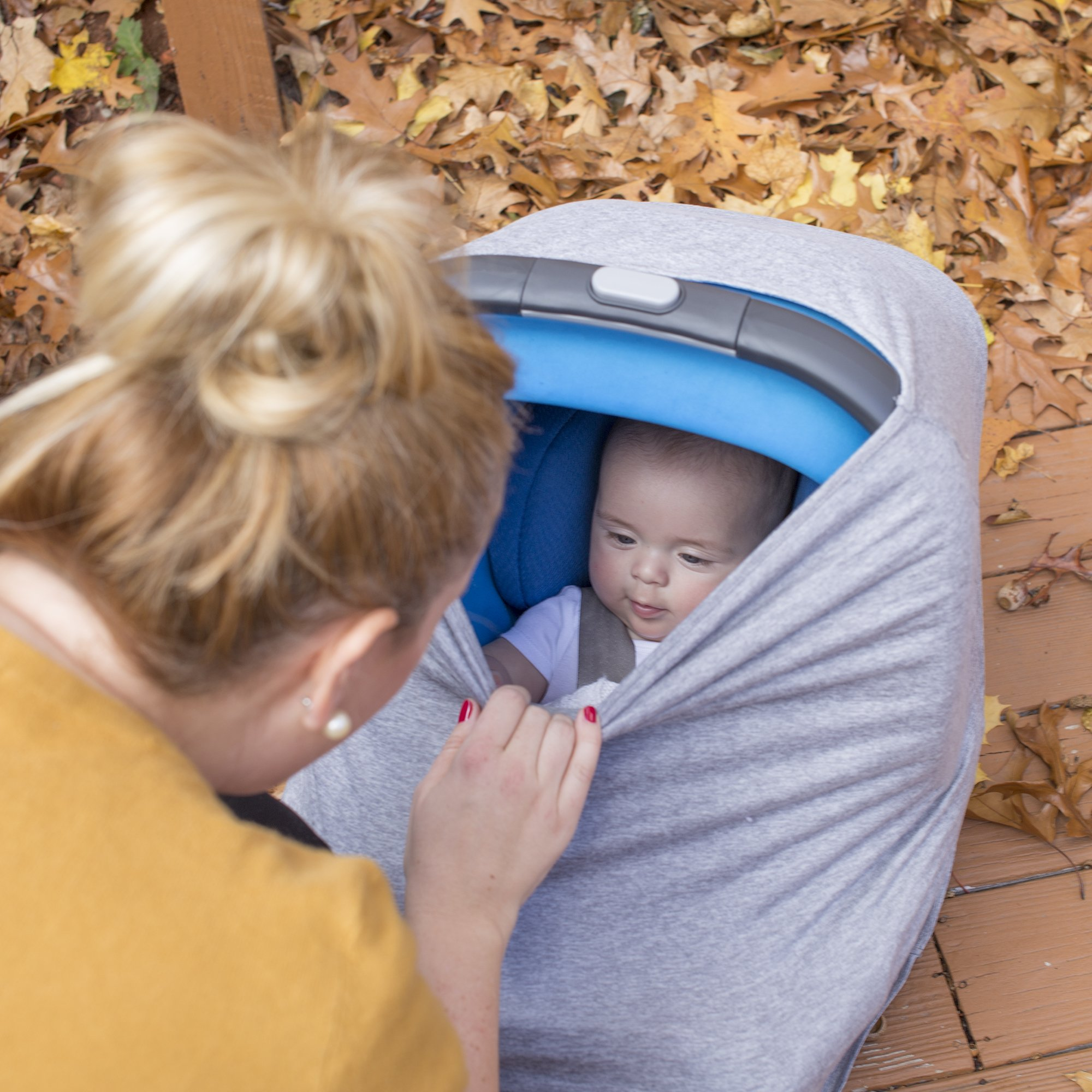 Nüroo Multi-Use Baby Car Seat, Nursing and Pumping Cover: Heather Grey