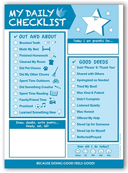 amazon com innerguide 90 day kids daily checklist pad office