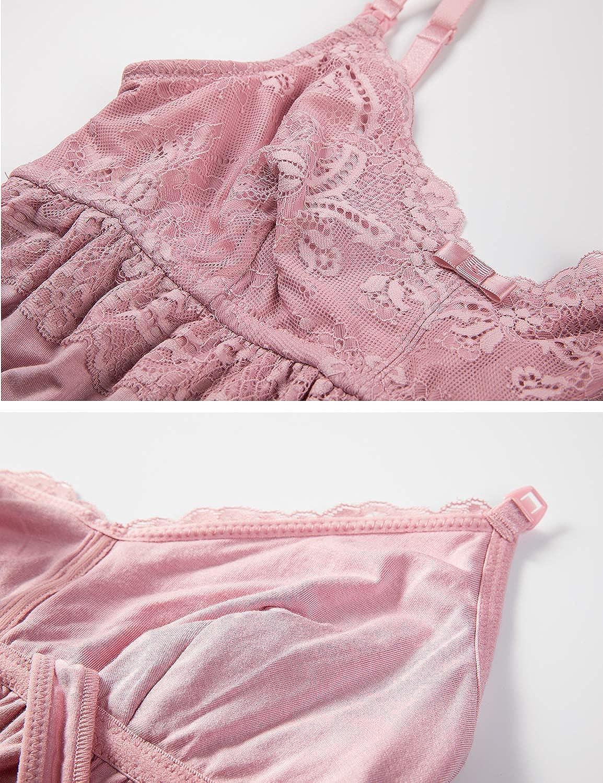 MOMANDA Womens Maternity Dress Nursing Nightgown Breastfeeding Sleepwear