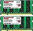 Komputerbay 2GB 2X 1GB DDR2 533MHz PC2-4200 PC2-4300 DDR2 533 (200 PIN) SODIMM Memoria computer portatile