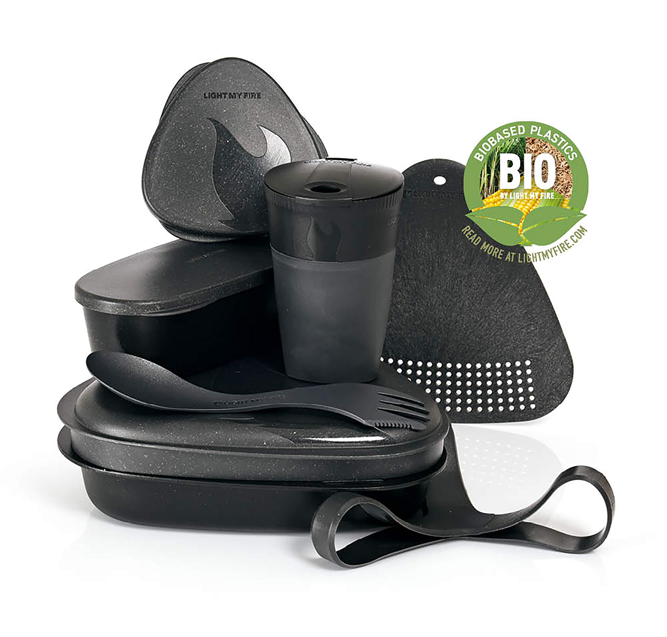 Light My Fire 8-Piece MealKit BIO Camping Mess Kit with Cup, Bowl, Plate, Spork and Storage Con by Light my Fire