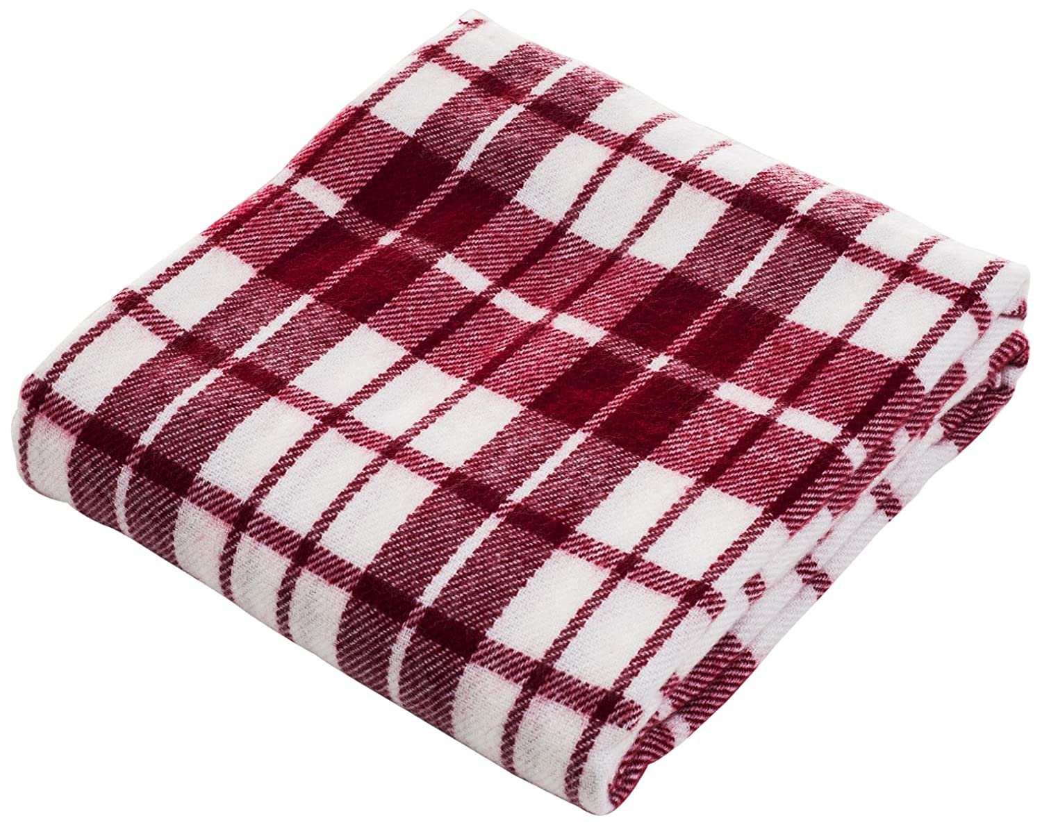 Bedford Home Throw Blanket, Cashmere-Like, Blue/Red 61A-18601