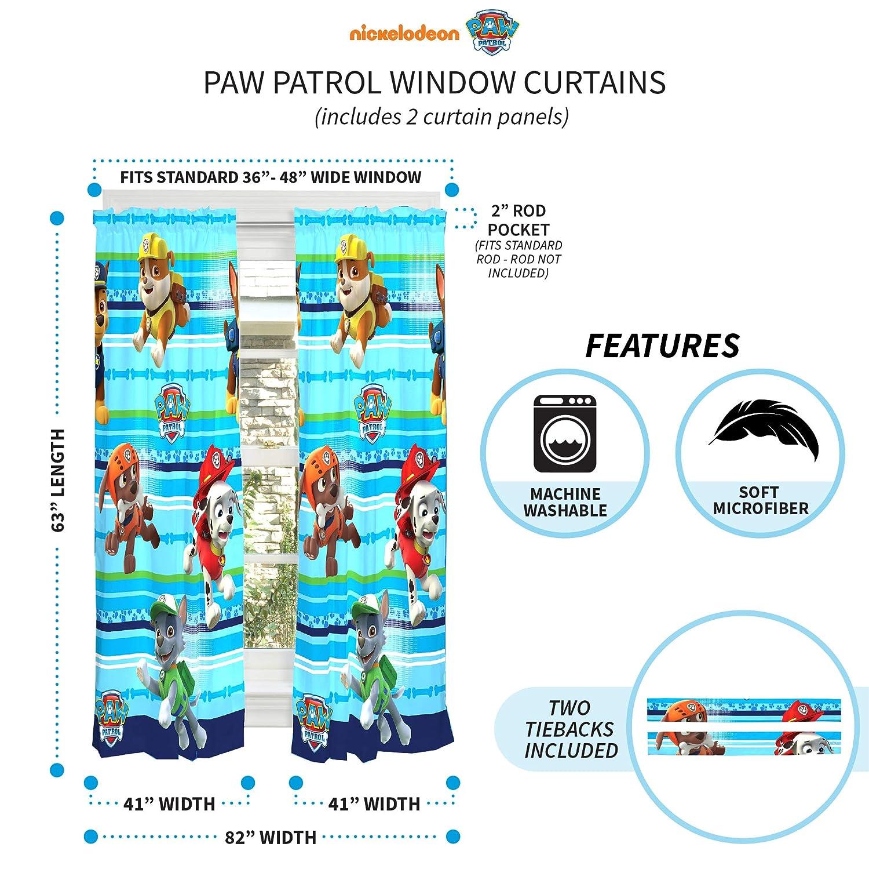 Amazon.com: PAW Patrol Puppy Fun cortinas: Home & Kitchen