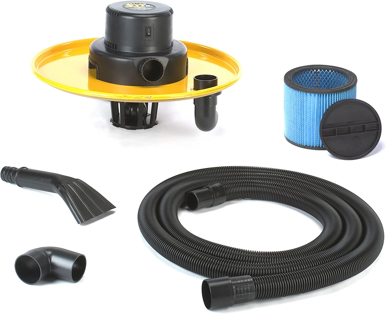 Shop-Vac 9700610 Genuine 3.0-Peak Horsepower Industrial Head Assembly 55-Gallon Powerful 2-Stage Motor Conversion Kit with Accessories Type X Cartridge Filter