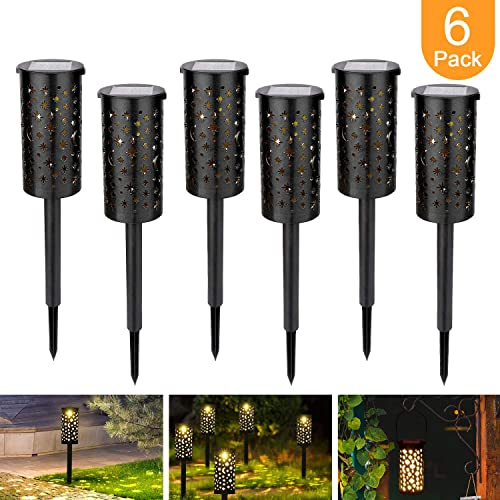 Bearbro Solar Lamps Garden,6pcs Solar Pathway Lights Outdoor,Decorative Garden Lights,Waterproof,Water Density IP44 Led Landscape Lantern for Walkway, Path, Lawn, Patio,Yard Bronze2-6PCS