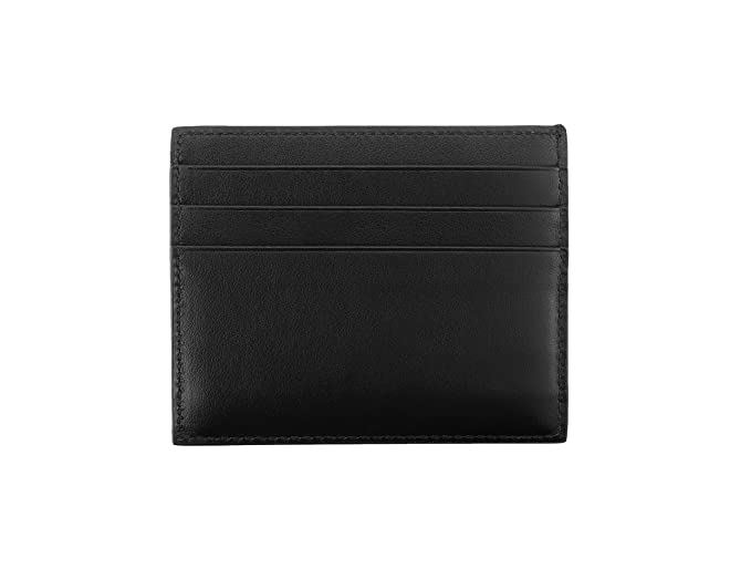 8aa6b1c8a639e0 Prada Vitello Calfskin Leather Card Case, Black (Nero) 2MC223 at Amazon  Men's Clothing store: