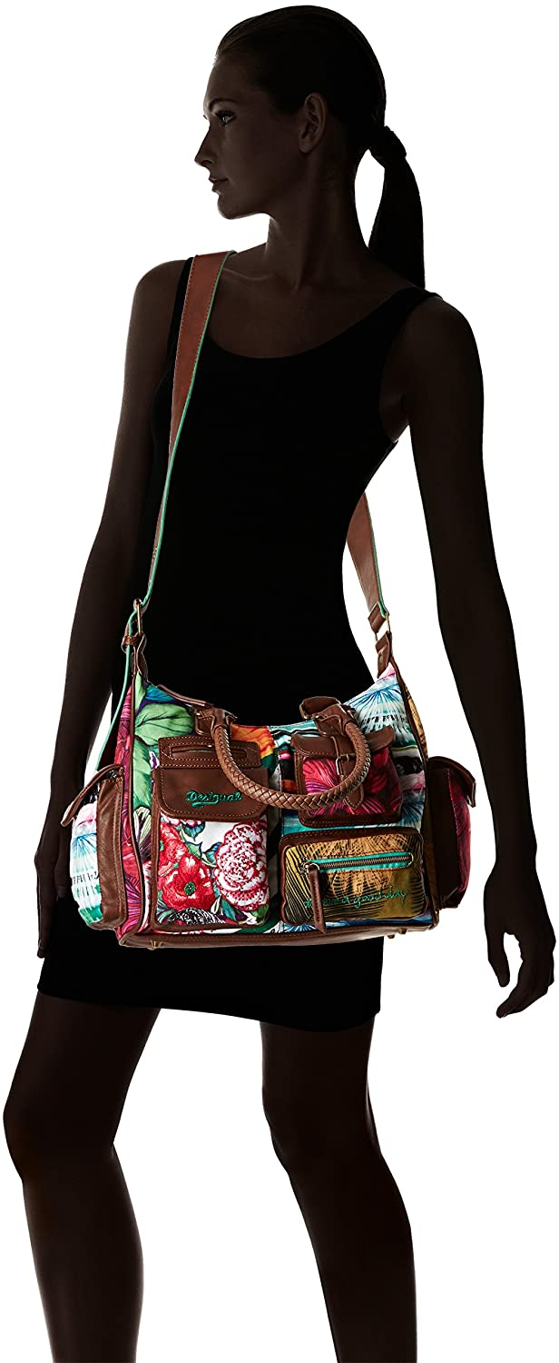London Per it Green Donna Amazon Desigual Borse Mentawai Medium 77dqI