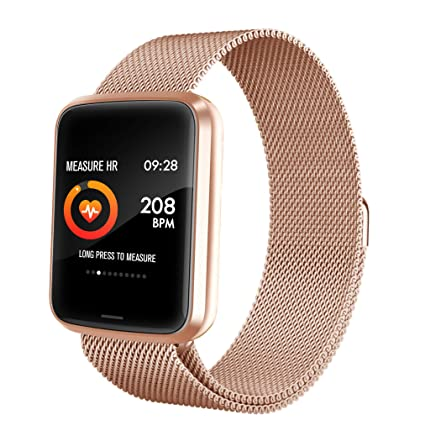 Chriffer Smart Watch, IP67 Waterproof Smartwatch of Milanese Loop with All-Day Heart Rate