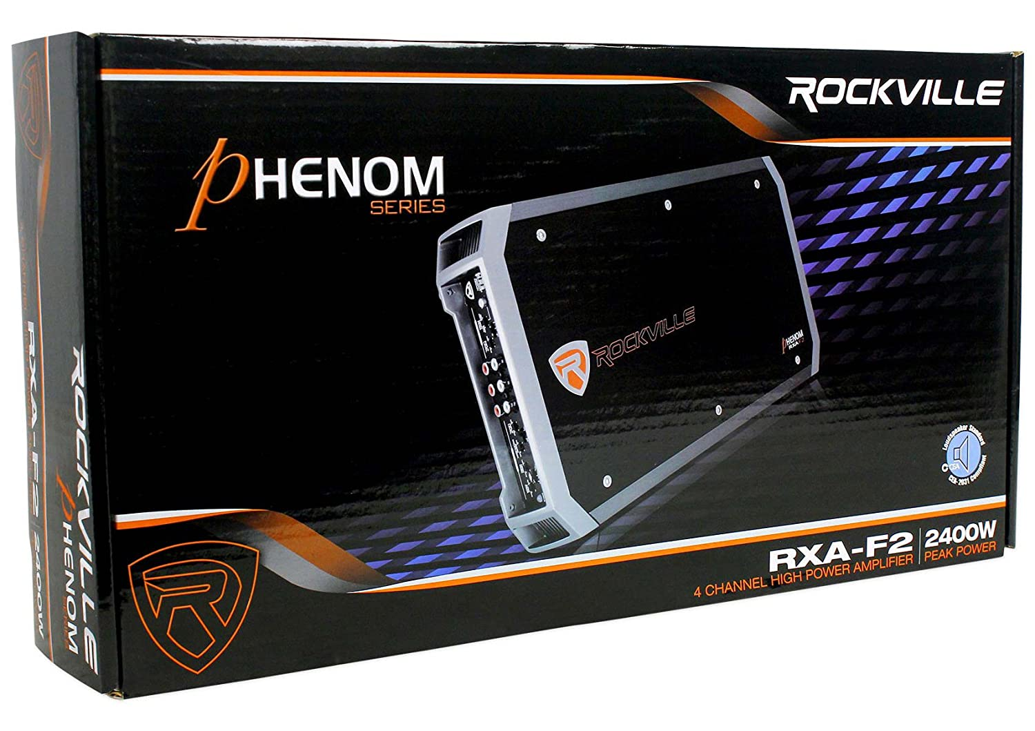 Amazon.com: Rockville RXA-F2 2400 Watt Peak / 1200w RMS 4 Channel Amplifier Car Stereo Amp: Car Electronics