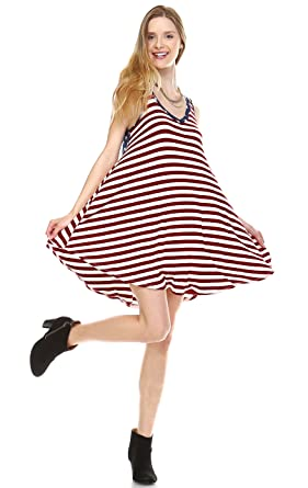 5302ea129e737 Image Unavailable. Image not available for. Color: Zoozie LA Women's  American Flag Dress USA National ...