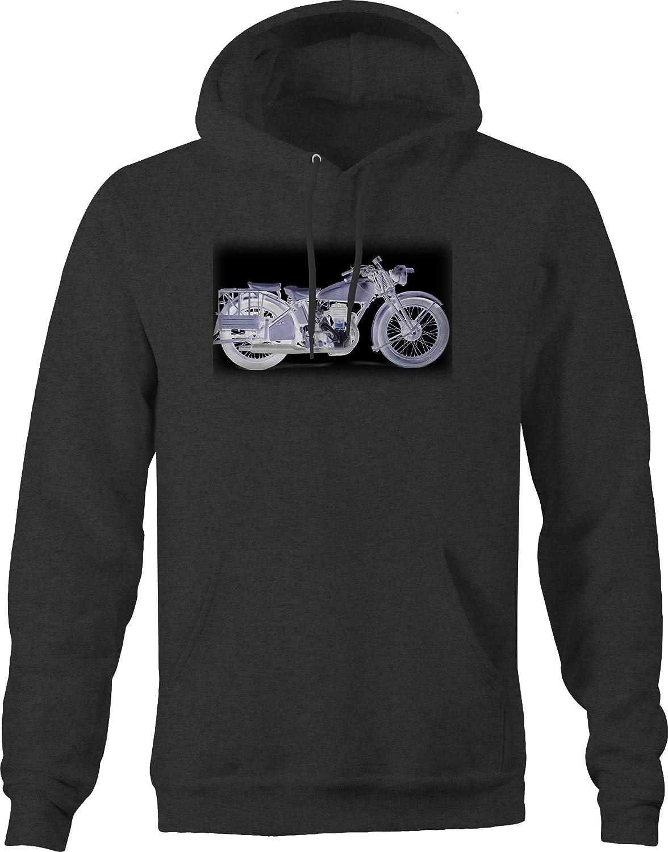 Classic Motorcycle Retro Vintage Photo Negative Xray Sweatshirt