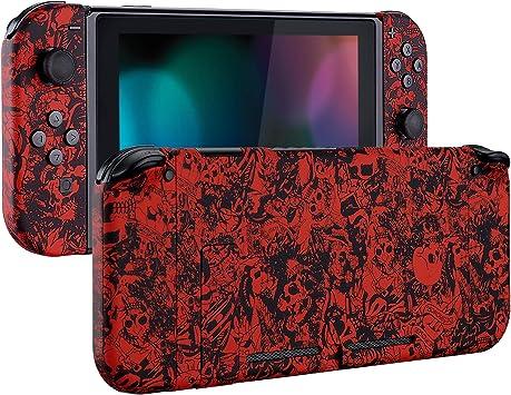 eXtremeRate Carcasa para Nintendo Switch,Funda Completa para Mando Controlador Consola Joy-con de Nintendo Switch Shell de Bricolaje reemplazable con Botón Completo (Demonio y Monstruo): Amazon.es: Electrónica