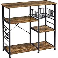Yaheetech 3-Tier 35.5in Microwave Bar Cart Kitchen Baker's Rack, Utility Oven Stand Shelf, Free Standing Organizer Shelf…
