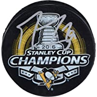 $74 » Marc-Andre Fleury Pittsburgh Penguins Autographed 2016 Stanley Cup Champions Logo Hockey Puck - Fanatics Authentic Certified