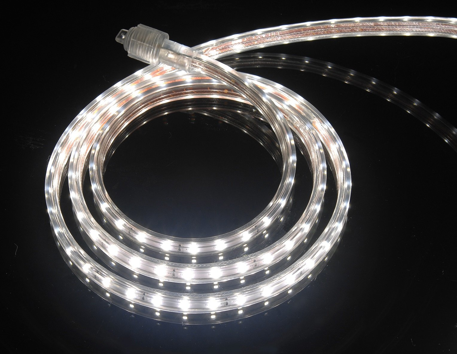 CBconcept UL Listed, 6.6 Feet, 720 Lumen, 4000K Soft White, Dimmable, 110-120V AC Flexible Flat LED Strip Rope Light, 120 Units 3528 SMD LEDs, Indoor/Outdoor Use, Accessories Included, [Ready to use]