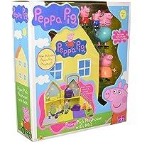 Peppa Casa con 4 Figuras + Playmat