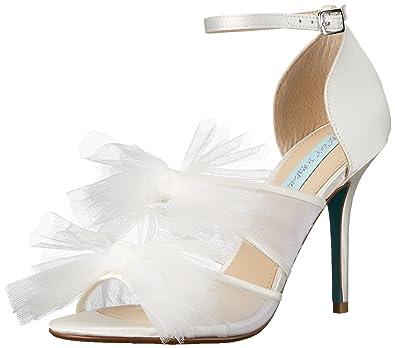 Blue dress sandals ivory